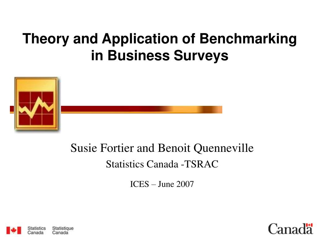 theory and application of benchmarking in business surveys l.
