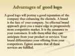 advantages of good logo
