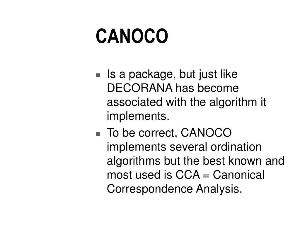 CANOCO