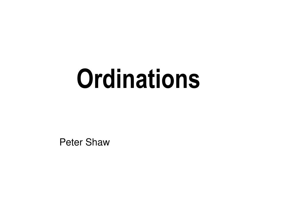 ordinations l.