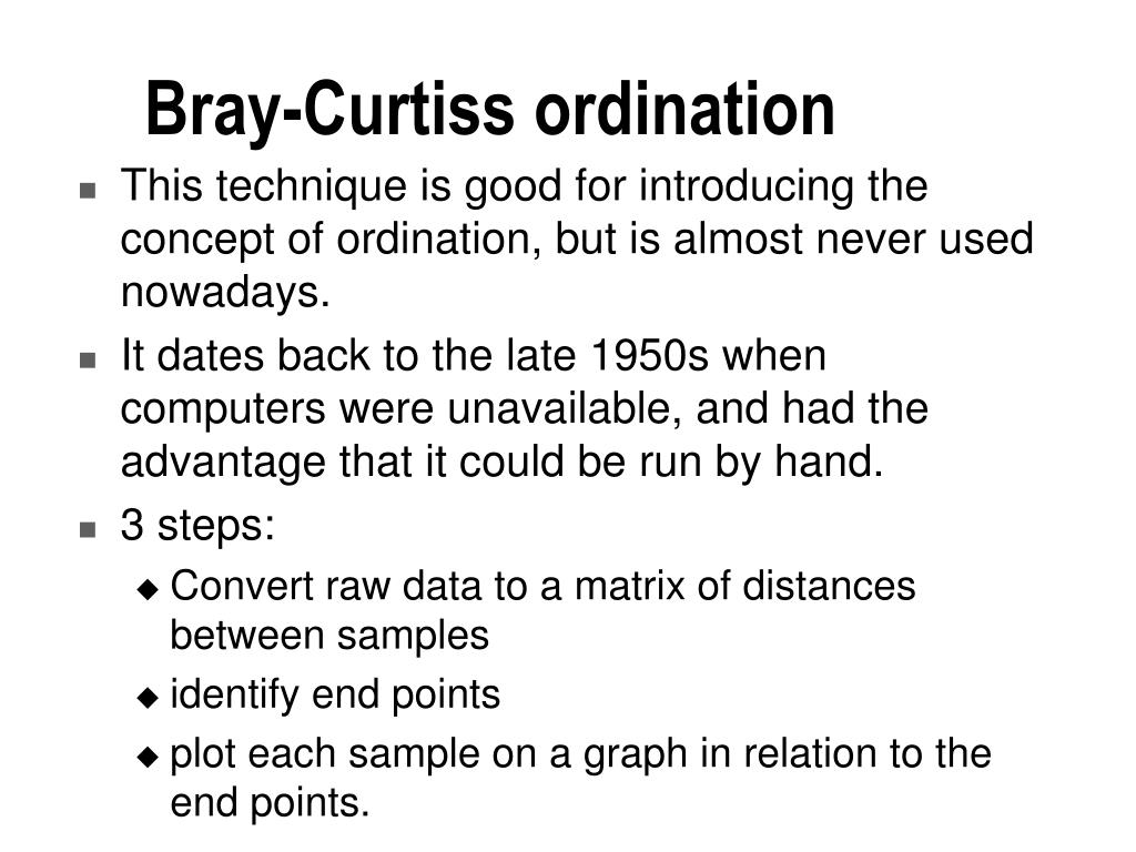 Bray-Curtiss ordination