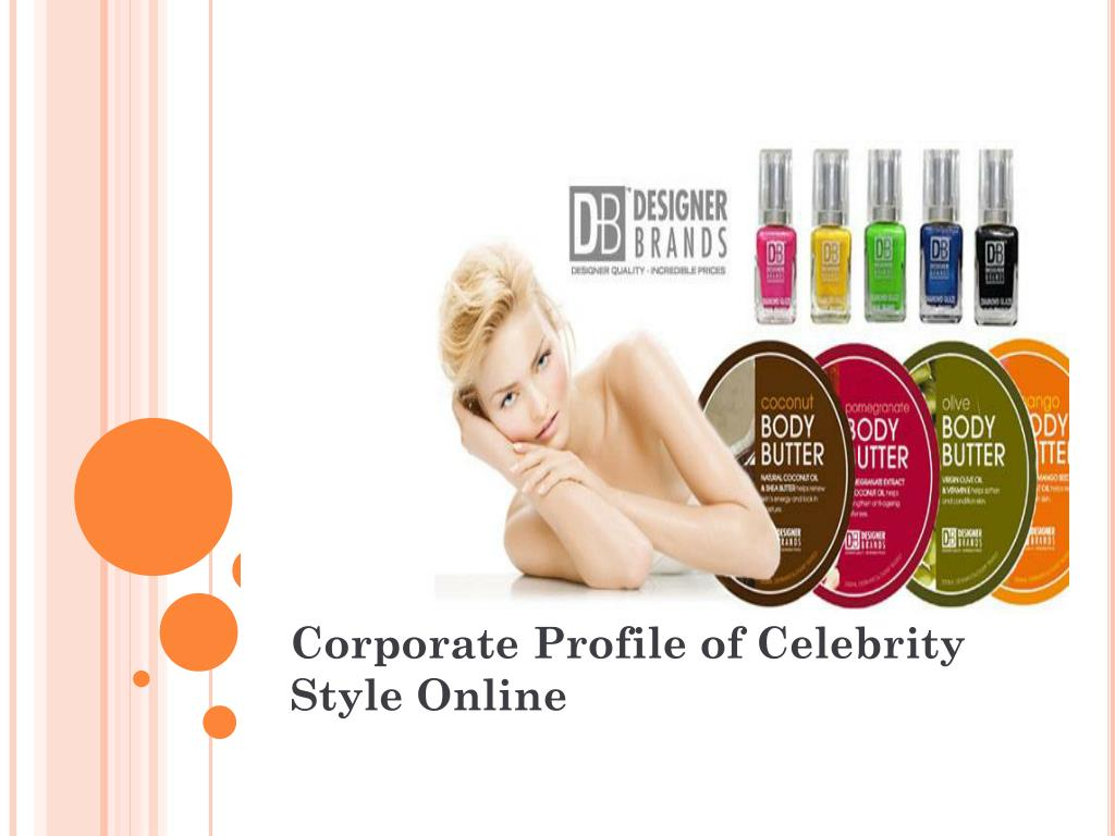 corporate profile of celebrity style online l.