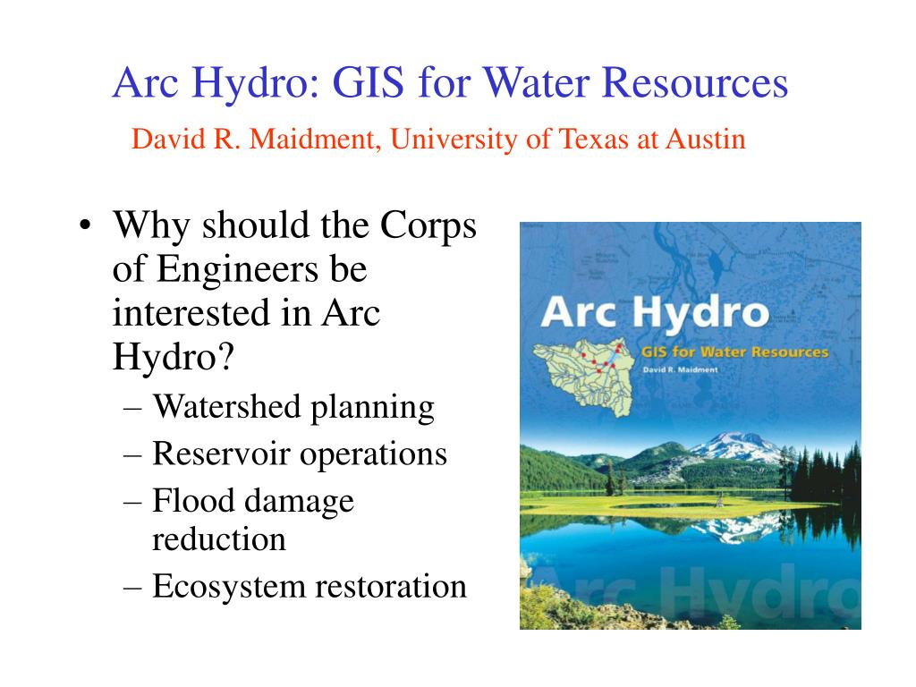 arc hydro gis for water resources l.