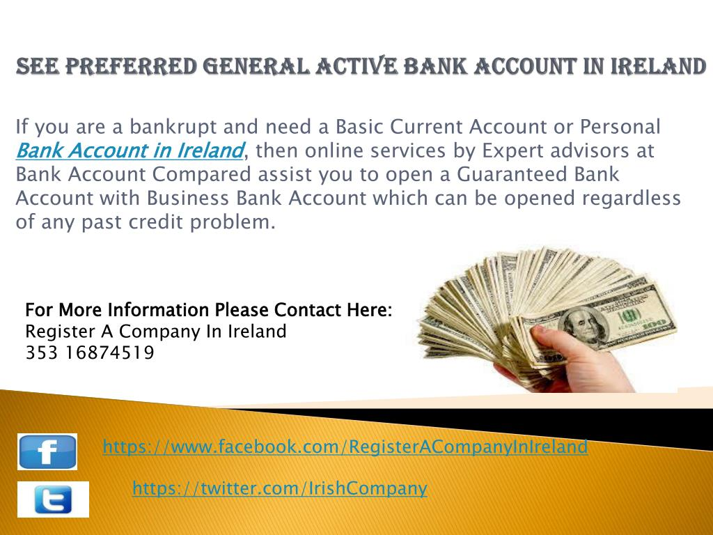 see preferred general active bank account in ireland l.