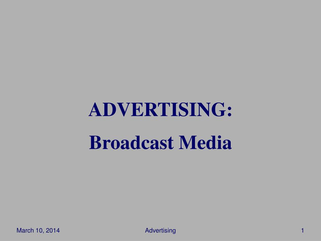 advertising broadcast media l.