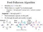 ford fulkerson algorithm