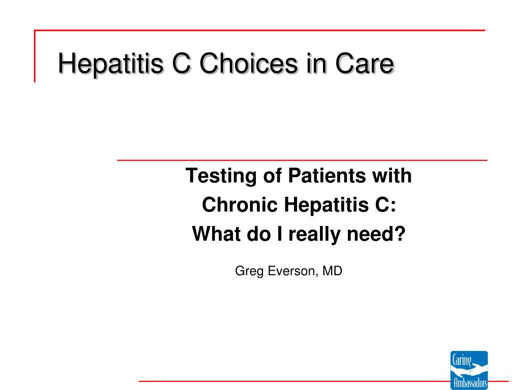 hepatitis c choices in care l.
