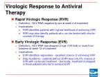 virologic response to antiviral therapy