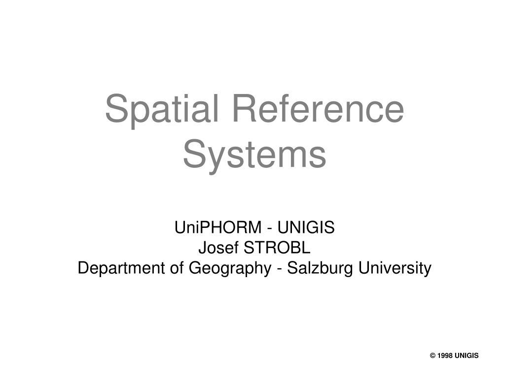 spatial reference systems l.