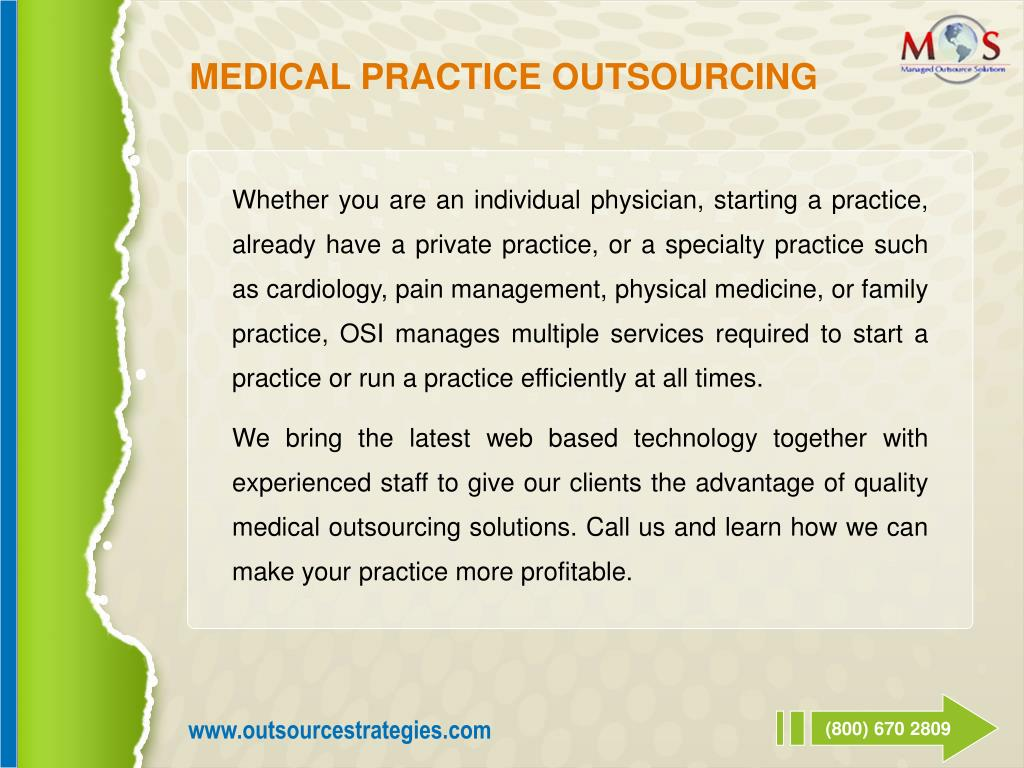 MEDICAL PRACTICE OUTSOURCING
