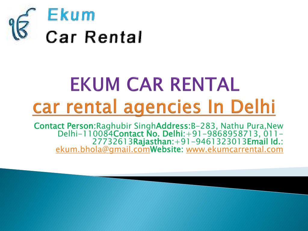 ekum car rental car rental agencies in delhi l.