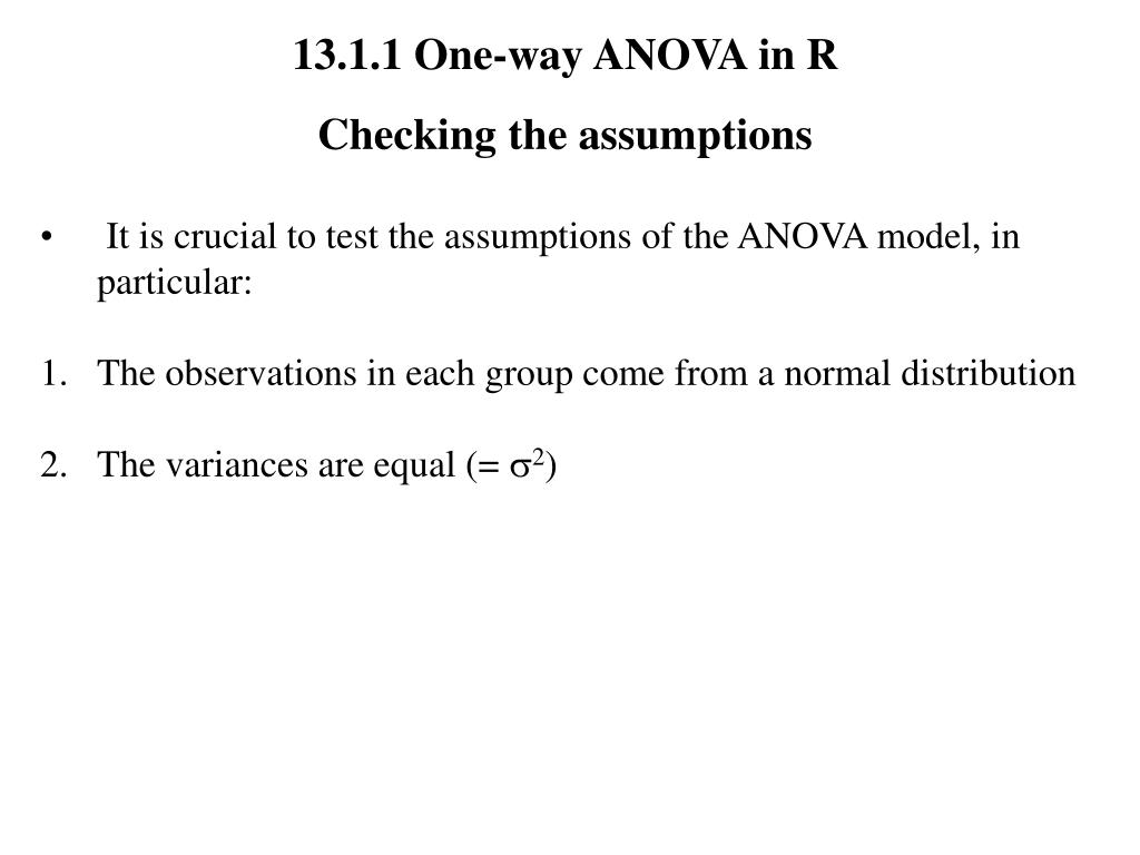 13.1.1 One-way ANOVA in R