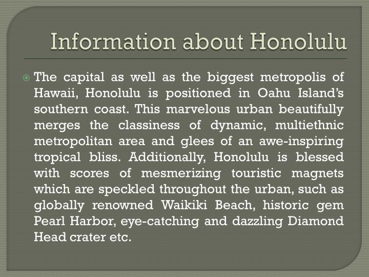Information about honolulu