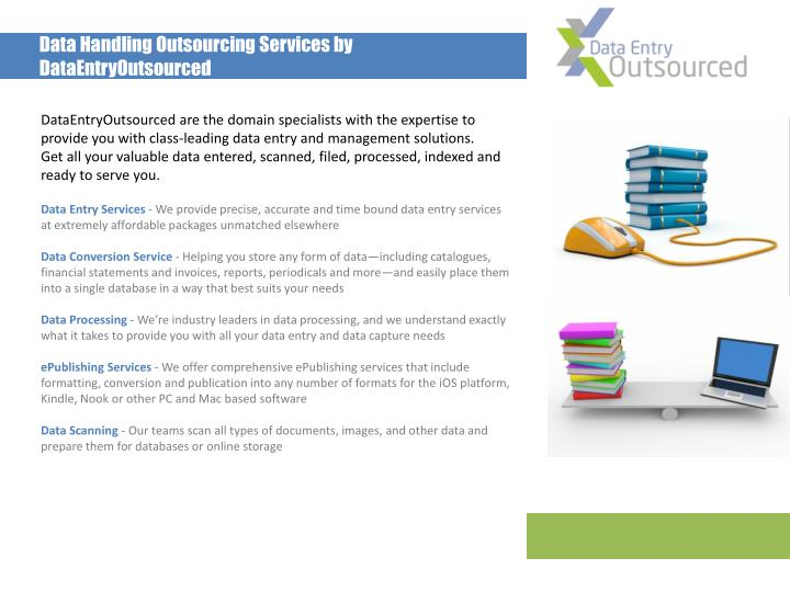 Data Handling Outsourcing Services by