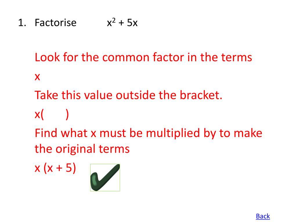 1.Factorisex