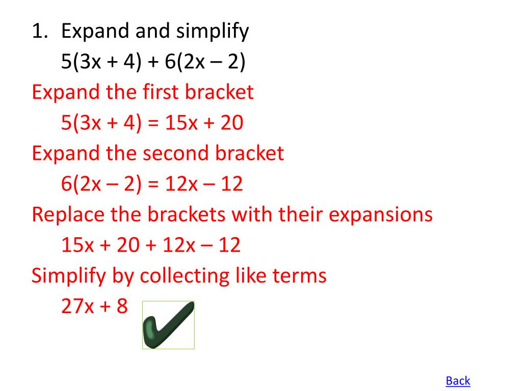 Expand and simplify