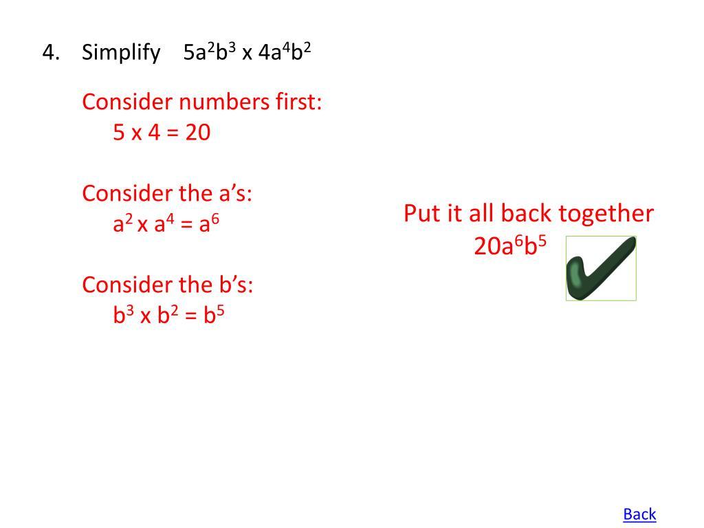 Simplify 5a