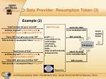 data provider resumption token 3