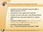 protocol details request format