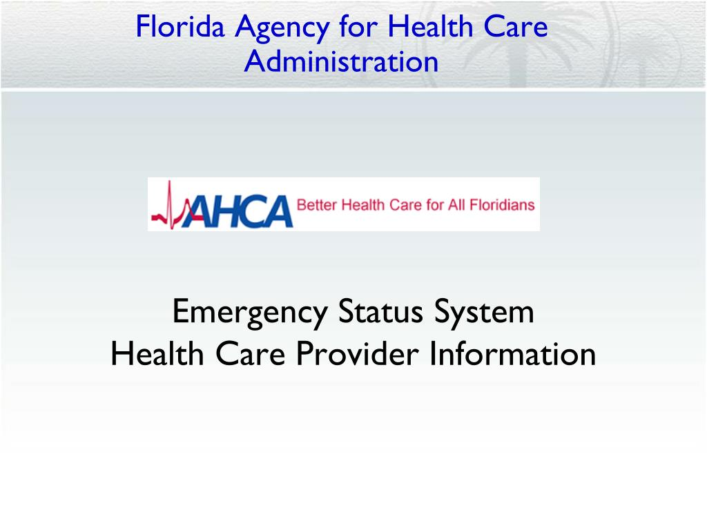 florida agency for health care administration l.