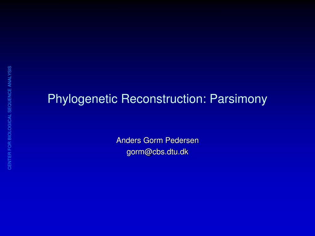 phylogenetic reconstruction parsimony l.