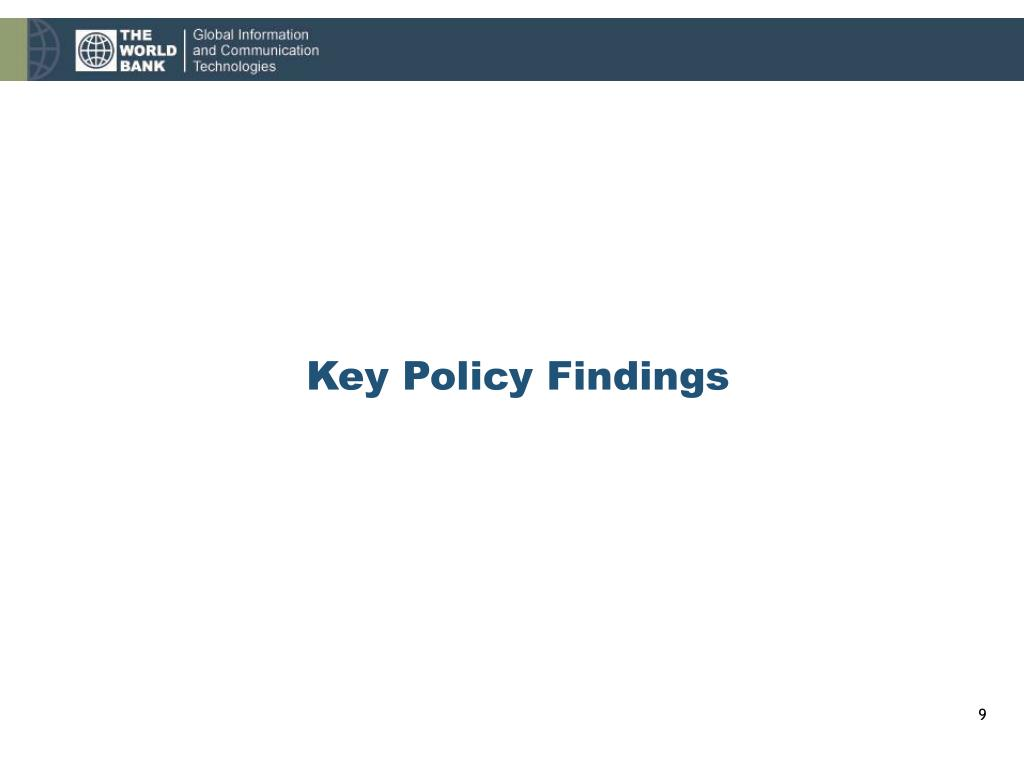Key Policy Findings