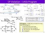 cp violation lhcb program