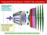 expected performance geant mc simulation
