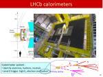 lhcb calorimeters