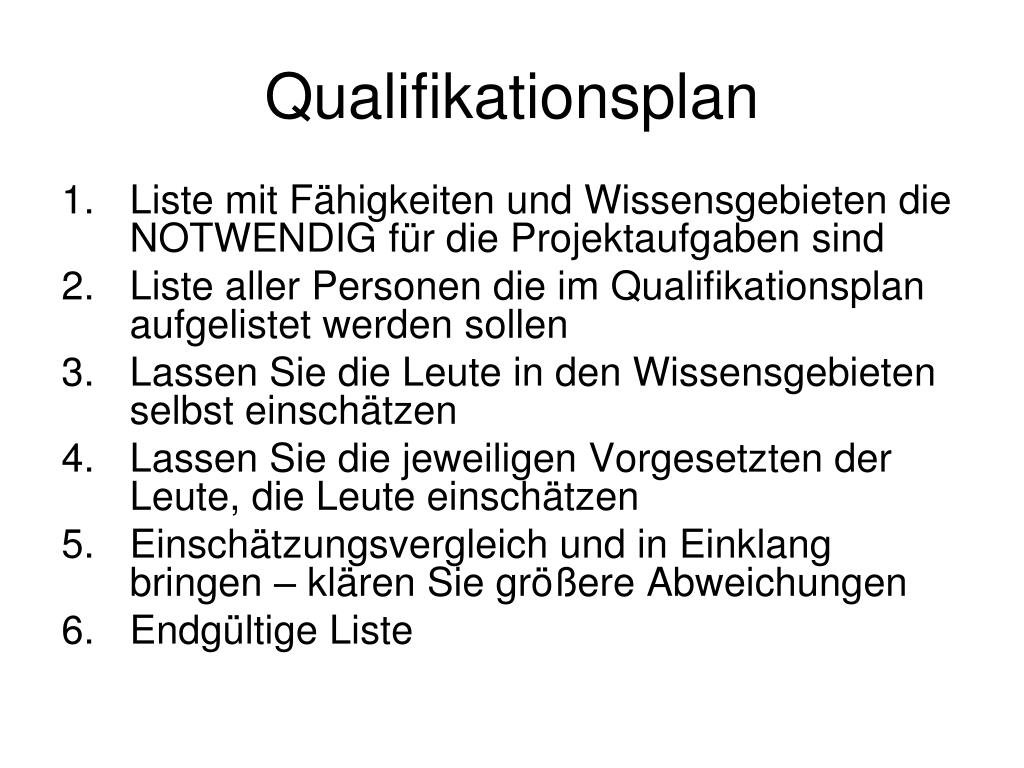 Qualifikationsplan