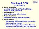 routing dcn chair xing li