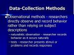 data collection methods36
