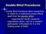 double blind procedures