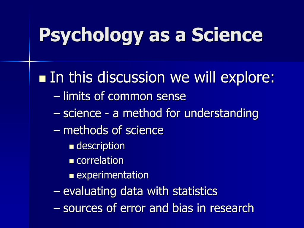 psychology as a science l.