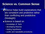 science vs common sense7