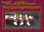 physics 1251 unit 2 session 22 strings guitar harp piano harpsichord15