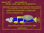 physics 1251 unit 2 session 22 strings guitar harp piano harpsichord17