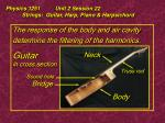 physics 1251 unit 2 session 22 strings guitar harp piano harpsichord18