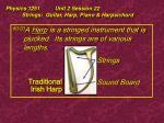 physics 1251 unit 2 session 22 strings guitar harp piano harpsichord20
