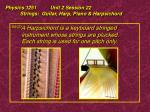 physics 1251 unit 2 session 22 strings guitar harp piano harpsichord25