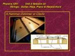physics 1251 unit 2 session 22 strings guitar harp piano harpsichord30