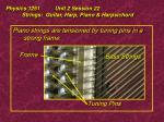 physics 1251 unit 2 session 22 strings guitar harp piano harpsichord35