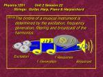 physics 1251 unit 2 session 22 strings guitar harp piano harpsichord38