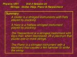 physics 1251 unit 2 session 22 strings guitar harp piano harpsichord40