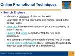 online promotional techniques