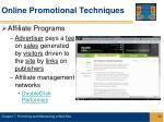 online promotional techniques21