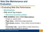 web site maintenance and evaluation32