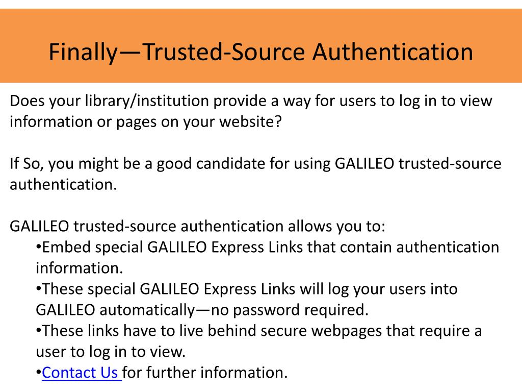 Finally—Trusted-Source Authentication