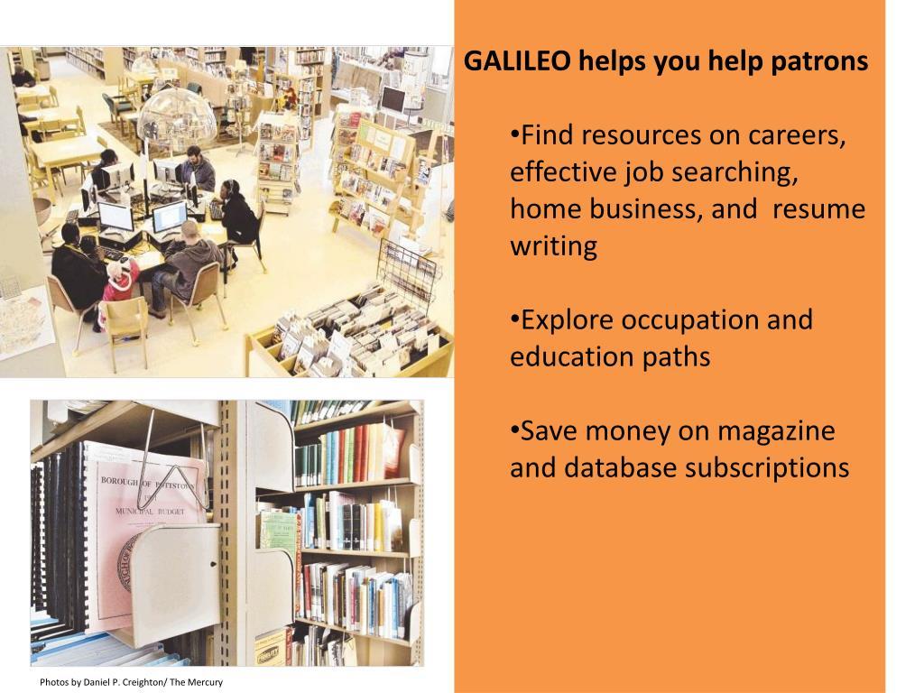 GALILEO helps you help patrons