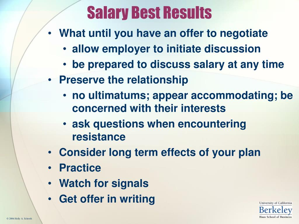Salary Best Results